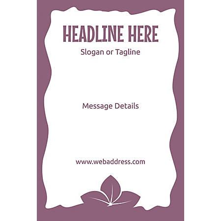 Custom Poster, Purple Leaves, Vertical