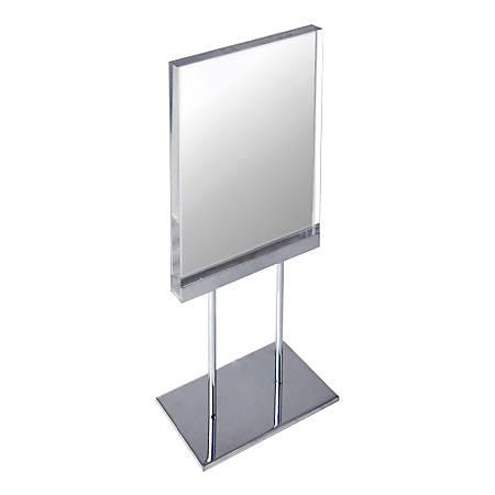 "Azar Displays Elite Series Acrylic Vertical Block Countertop Sign Holder, 19""H x 8-1/2""W x 4""D, Clear"