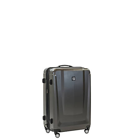 "ful Load Rider ABS Expandable Upright Rolling Suitcase, 20""H x 14 3/8""W x 9 3/4""D, Black"