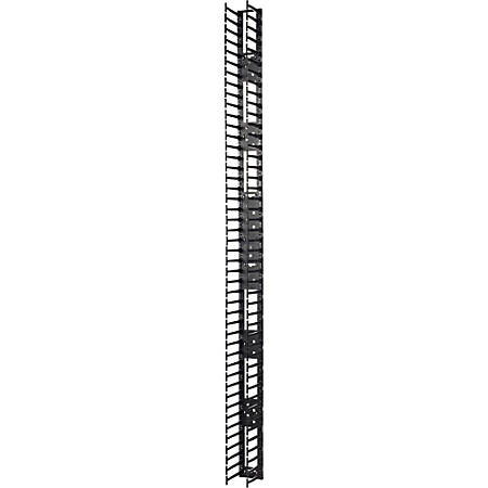 APC by Schneider Electric Vertical Cable Manager for NetShelter SX 750mm Wide 48U (Qty 2) - Black - 2 Pack - 48U Rack Height
