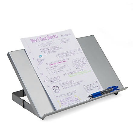"Mind Reader Metal Resting Document Holder Easel, 2 1/2""H x 15""W x 9 3/4""D, Silver"