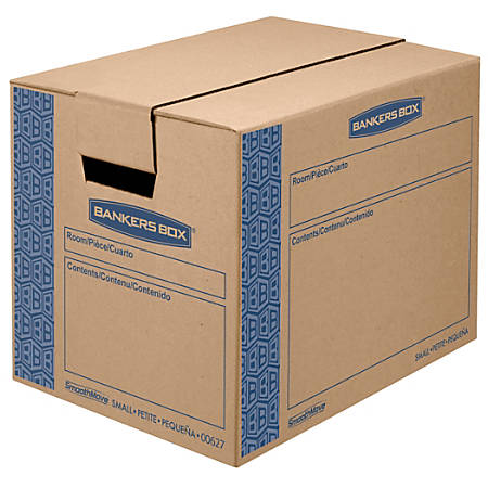 """Bankers Box® SmoothMove™ Prime Moving Boxes, Small, 12"""" x 12"""" x 16"""", 85% Recycled, Kraft, Pack Of 10"""