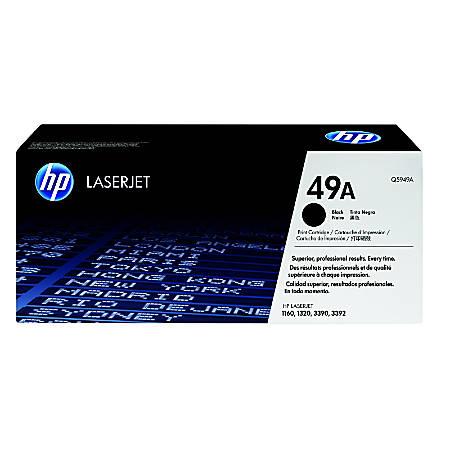 HP 49A, Black Original Toner Cartridge (Q5949A)