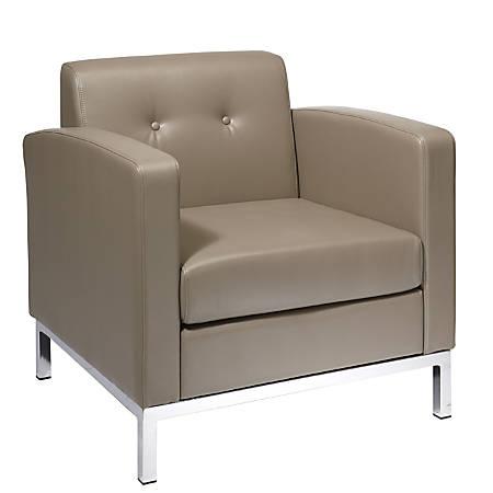 Office Star™ Avenue Six Wall Street Chair, Dual Arms, Smoke/Chrome