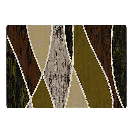 "Flagship Carpets Waterford Rectangular Area Rug, 100"" x 144"", Green"