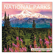 Mead National Parks Mini Monthly Wall