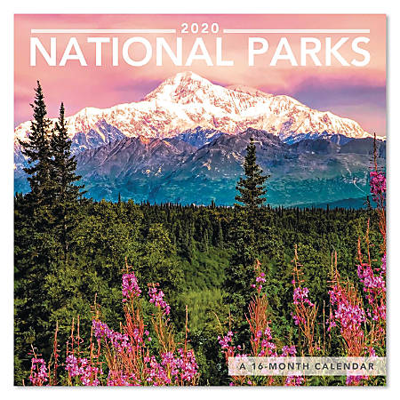 "Mead® National Parks Mini Monthly Wall Calendar, 7"" x 7"", January to December 2020, ODMN99-28"