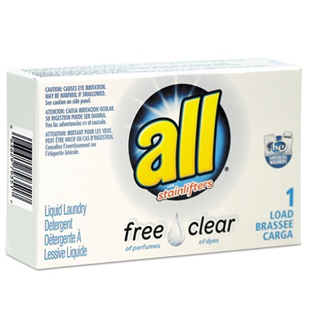 All® Free Clear HE Liquid Laundry Detergent, Unscented, 1 6 Oz, Pack Of 100  Item # 776254