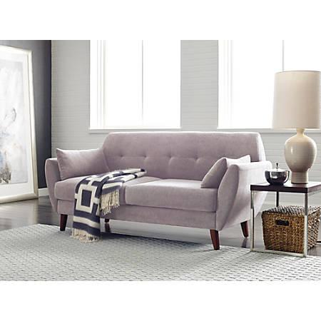 Serta Artesia Collection Sofa, Ivory/Chestnut
