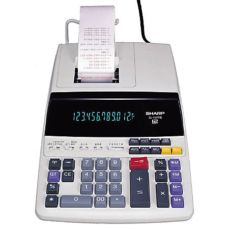 Sharp El 1197piii Desktop Printing Calculator