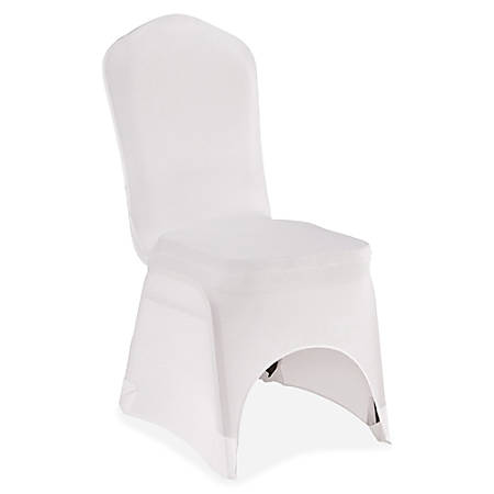 Iceberg Banquet Chair Cover - Supports Chair - Stretchable, Snug Fit, Washable - Polyester, Spandex - White - 1