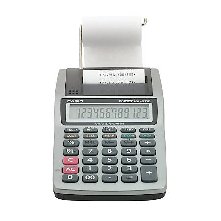 Casio® HR-8TM-PLUS Printing Calculator