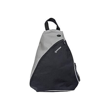 """Manhattan Dashpack - Sling bag for tablet / notebook - 600D PVC - black, light gray - 12"""""""