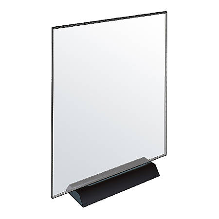 """Azar Displays Acrylic Frame Sign Holders, 11""""H x 8-1/2""""W x 3-1/8""""D, Clear, Pack Of 2 Holders"""