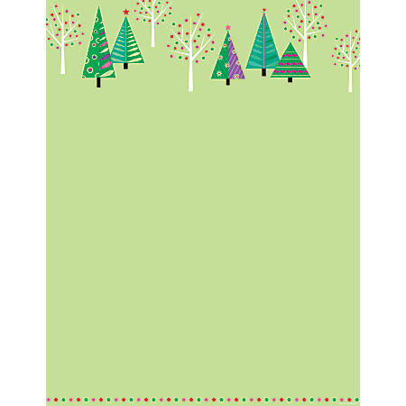 "Great Papers!® Holiday Stationery, 8 1/2"" x 11"", Sparkling Christmas Tree, Pack Of 80 Sheets"