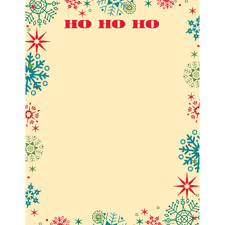 """Great Papers!® Holiday Stationery, 8 1/2"""" x 11"""", Ho Ho Snowflake, Pack Of 80 Sheets"""