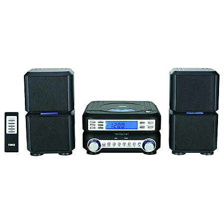 Naxa NS-438 Micro Hi-Fi System - 4 W RMS - Black