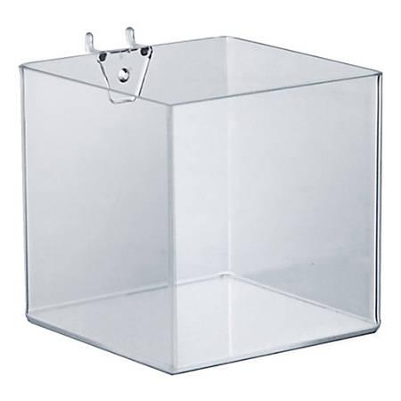"Azar Displays Brochure Holder Cubes, 5""H x 5""W x 5""D, Clear, Pack Of 4 Cubes"