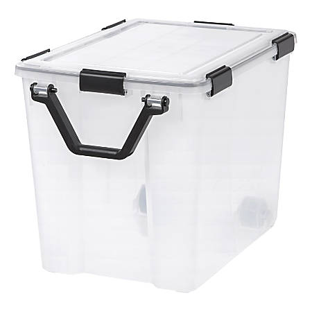 "IRIS WEATHERTIGHT Storage Box, 103-Quart, 18-3/4"" x 17-3/4"" x 23-5/8"", Clear"