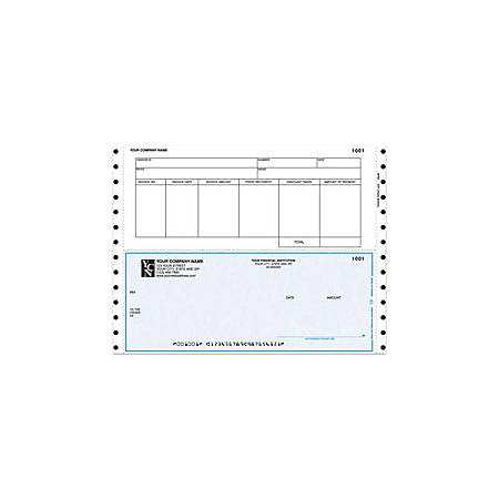 """Continuous Accounts Payable Checks For One Write Plus®, 9 1/2"""" x 7"""", 1 Part, Box Of 250"""