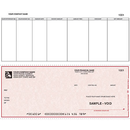 """Custom Continuous Accounts Payable Checks For Great Plains®, 9 1/2"""" x 7"""", 1 Part, Box Of 250"""