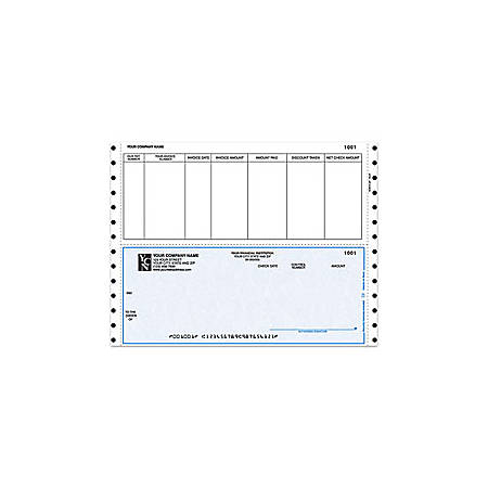 """Continuous Accounts Payable Checks For Dynamics®, 9 1/2"""" x 7"""", 1 Part, Box Of 250"""