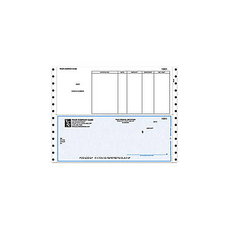 "Continuous Accounts Payable Checks For Sage Peachtree®, 9 1/2"" x 7"", 1 Part, Box Of 250"