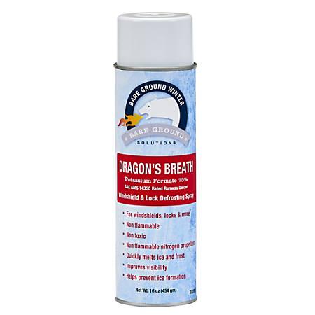 Bare Ground Dragon's Breath Windshield De-Icing Spray, 16 Oz Can