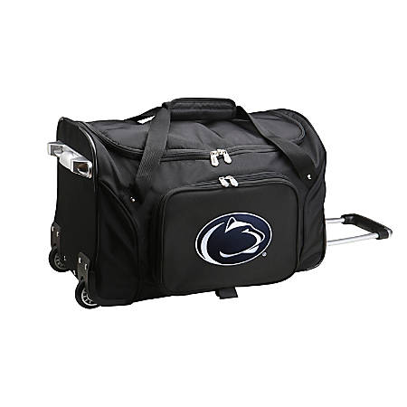 Denco Sports Luggage Rolling Duffel Bag, Penn State Nittany Lions, Black