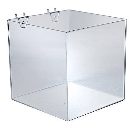 "Azar Displays Brochure Holder Cubes, 8""H x 8""W x 8""D, Clear, Pack Of 4 Cubes"