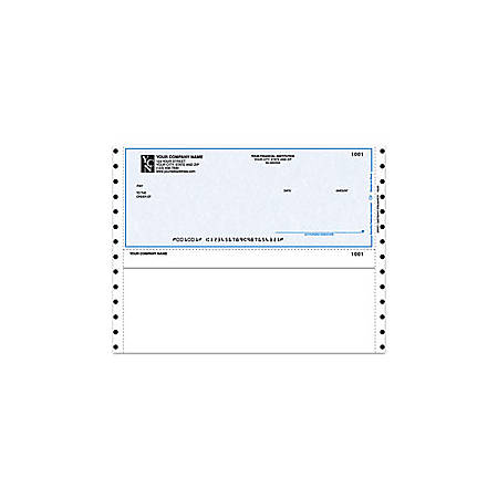 "Custom Continuous Multipurpose Voucher Checks For M.Y.O.B®, 9 1/2"" x 7"", 1 Part, Box Of 250"