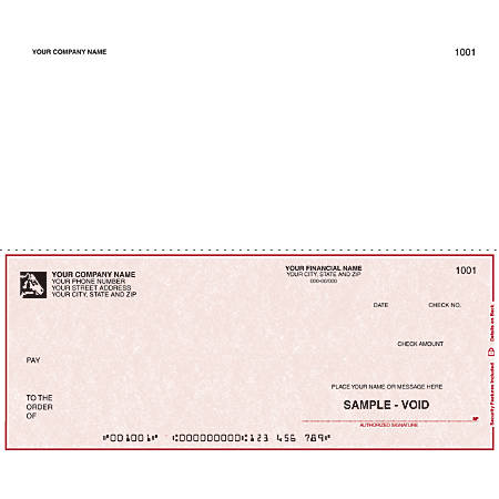 "Continuous Multipurpose Voucher Checks For RealWorld®, 9 1/2"" x 7"", 1 Part, Box Of 250"