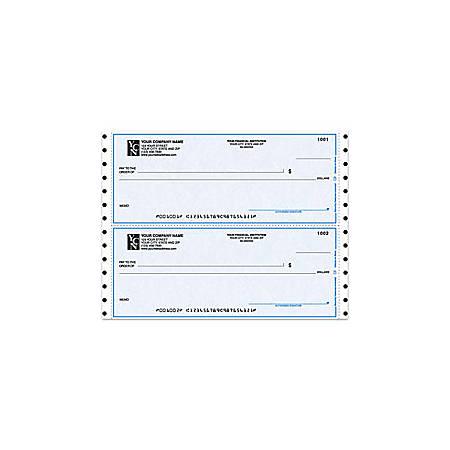 "Continuous Multipurpose Draft Checks For MECA®, 9 1/2"" x 3 1/2"", 1 Part, Box Of 250"