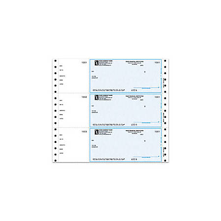 "Custom Continuous Multipurpose Wallet Checks For 9 1/2"" x 2 5/6"", MECA®, 9 1/2"" x 2 5/6"", 1 Part, Box Of 250"