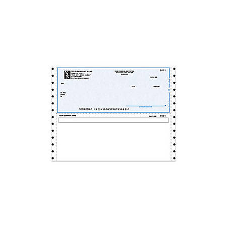 "Continuous Multipurpose Voucher Checks For ACCPAC®, 9 1/2"" x 7"", 1 Part, Box Of 250"