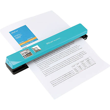 IRIS Iriscan Anywhere 5- Turquoise Portable Document And Photo Scanner - 12 ppm (Mono) - 12 ppm (Color) - PC Free Scanning - USB
