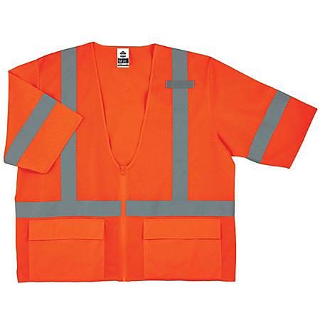 Ergodyne GloWear Safety Vest, Standard, Type-R Class 3, 4X/5X, Orange, 8320Z