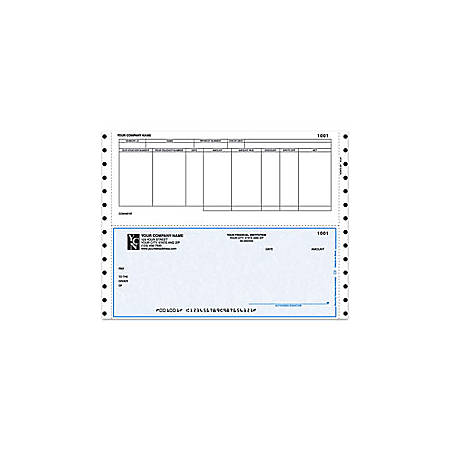 "Custom Continuous Accounts Payable Checks For Dynamics®/Great Plains®/Microsoft®, 9 1/2"" x 7"", 2 Parts, Box Of 250"