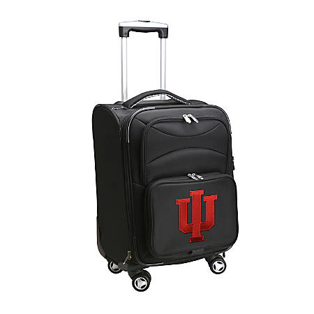 "Denco Sports Luggage Expandable Upright Rolling Carry-On Case, 21"" x 13 1/4"" x 12"", Black, Indiana Hoosiers"