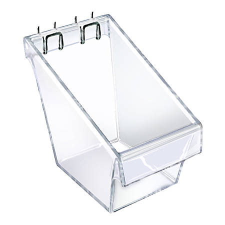"Azar Displays Display Buckets, 4-1/2""H x 4""W x 4-1/4""D, Clear, Pack Of 4 Buckets"