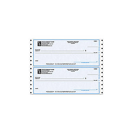 "Continuous Multipurpose Draft Checks For MECA®, 9 1/2"" x 3 1/2"", 2 Parts, Box Of 250"