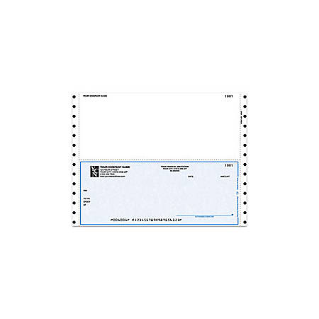 """Continuous Multipurpose Voucher Checks For Great Plains®, 9 1/2"""" x 7"""", 2 Parts, Box Of 250"""