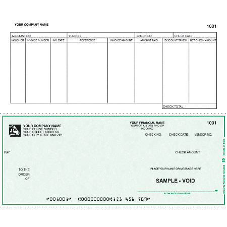 """Continuous Accounts Payable Checks For RealWorld®, 9 1/2"""" x 7"""", 3 Parts, Box Of 250"""