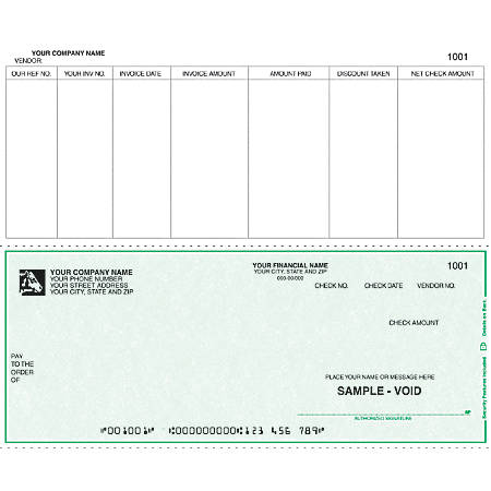 """Continuous Accounts Payable Checks For Sage Peachtree®, 9 1/2"""" x 7"""", 3 Parts, Box Of 250"""