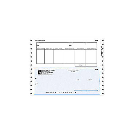 "Custom Continuous Accounts Payable Checks For One Write Plus®, 9 1/2"" x 7"", 3 Parts, Box Of 250"