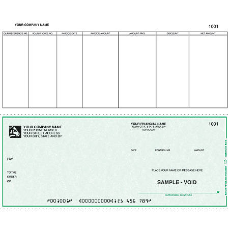 """Continuous Accounts Payable Checks For Great Plains®, 9 1/2"""" x 7"""", 3 Parts, Box Of 250"""