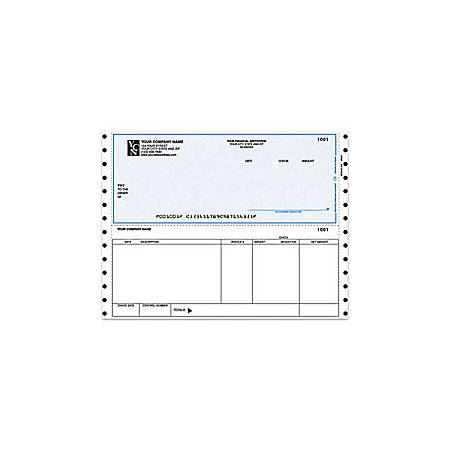 """Custom Continuous Accounts Payable Checks For RealWorld®, 9 1/2"""" x 7"""", 3 Parts, Box Of 250"""