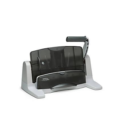 Swingline® LightTouch® Heavy-Duty Paper Punch, Charcoal/Gray