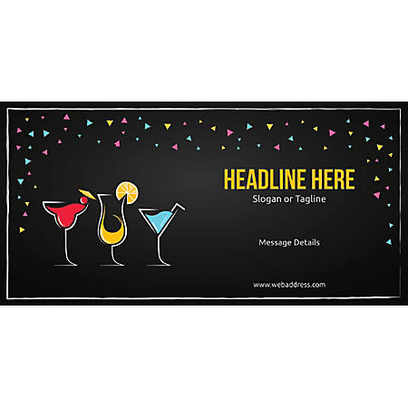 Custom Horizontal Banner, Cocktail Party