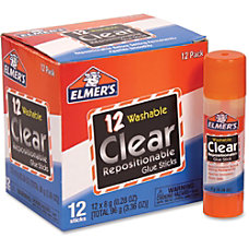 Elmers Clear Repositionable Glue Sticks 028